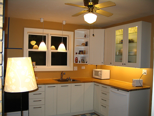 kitchen ceiling fans with bright lights - wanted imagery